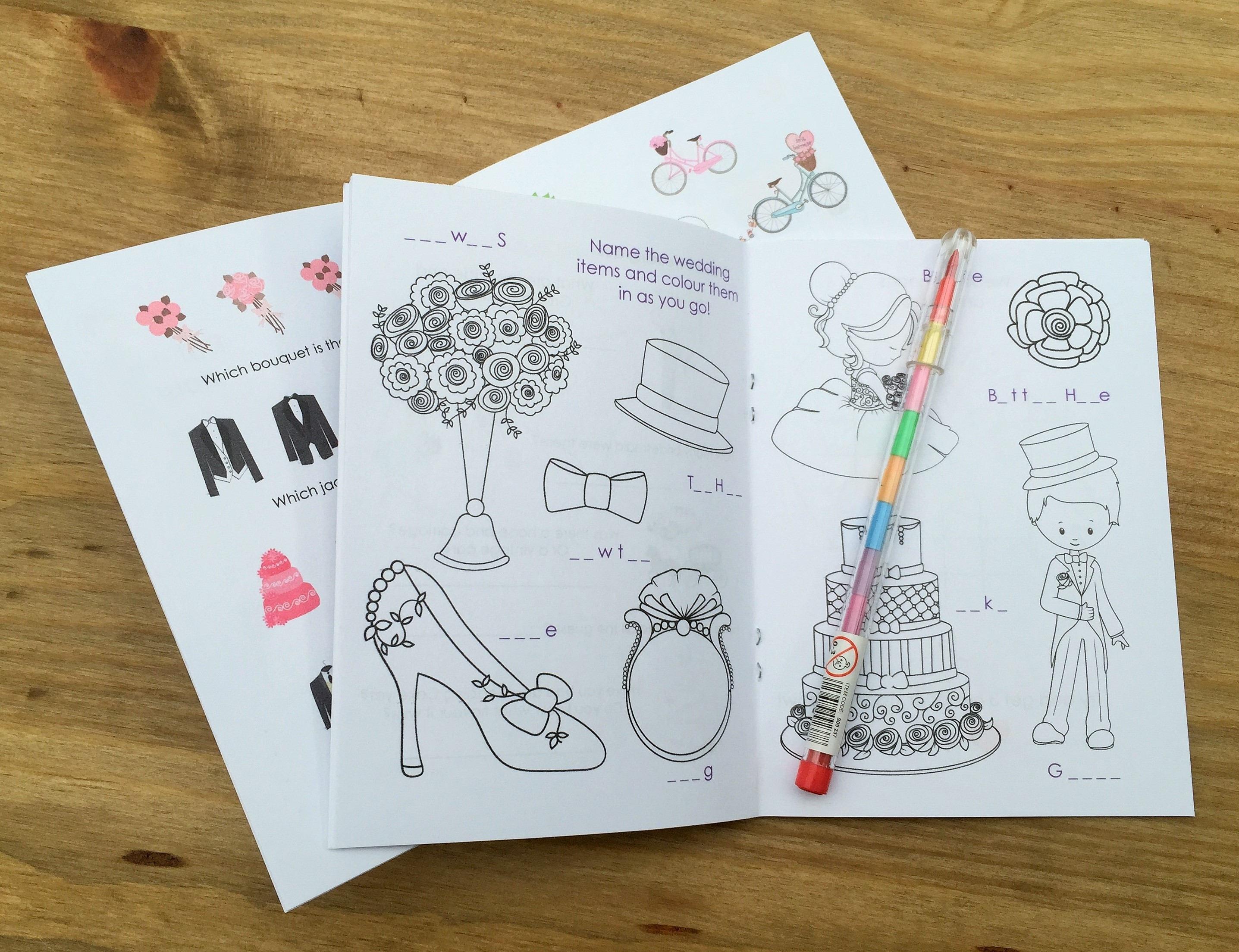 A6 STARWARS Inspired Childrens Kids Wedding Activity Pack,Favour ...