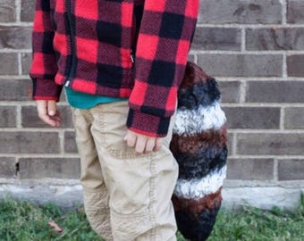 Ready to ship! Rocket Raccoon Inspired Tail, Raccoon Tail, Animal costume, Tail only, child costume, adult costume, animal tail,
