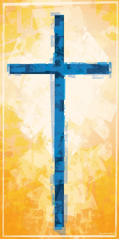 Cross Christian Banner Church Banner Church Art Golden