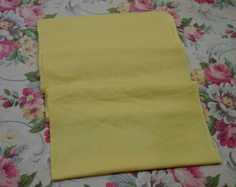"""Vintage Cotton Fabric Pretty Yellow, 34"""" Wide,  3 Yards"""