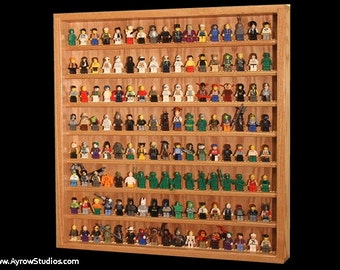 Long Hardwood Shelf For 25 To 33 Lego 174 Minifigs
