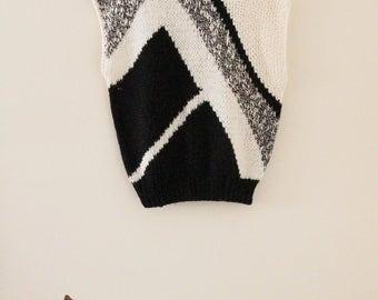 80's Geometric Knit Top