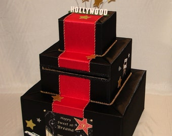 Hollywood theme Card Box for any occasion