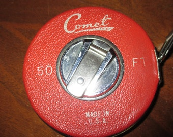 Vintage Comet 50 ft metal measuring tape