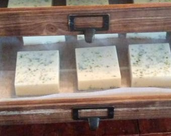 Creamy Goats Milk soap in unscented or Lemon Verbena