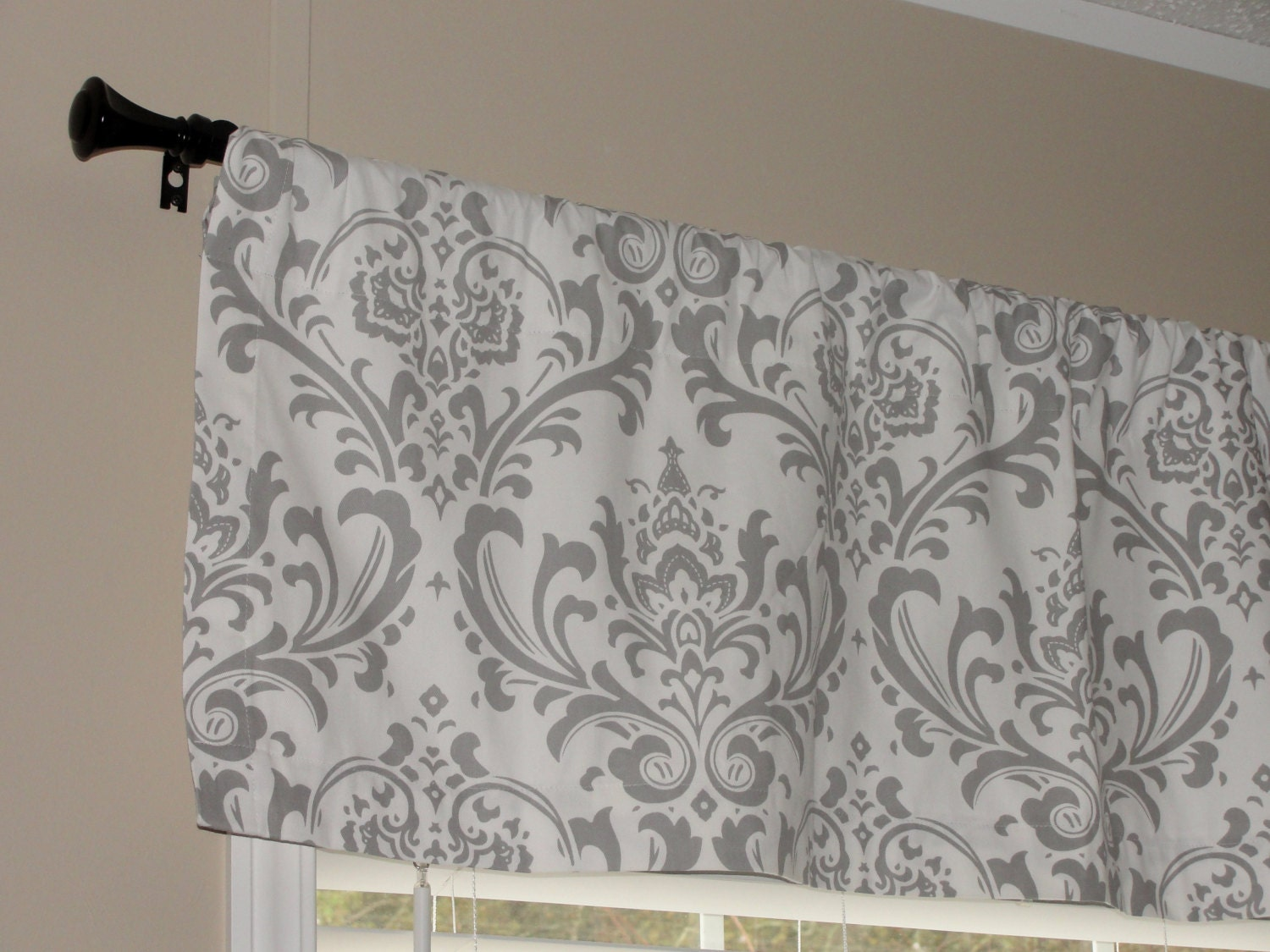 great lucia beige solid decor valances deals polyester white s barn valance shop ivory dogwood all lush the gray on off