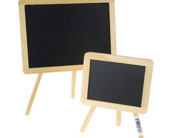 Chalkboard Wood Easel Table Sign, Rectangular