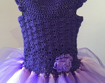 Purple Tulle Party Dress 5T