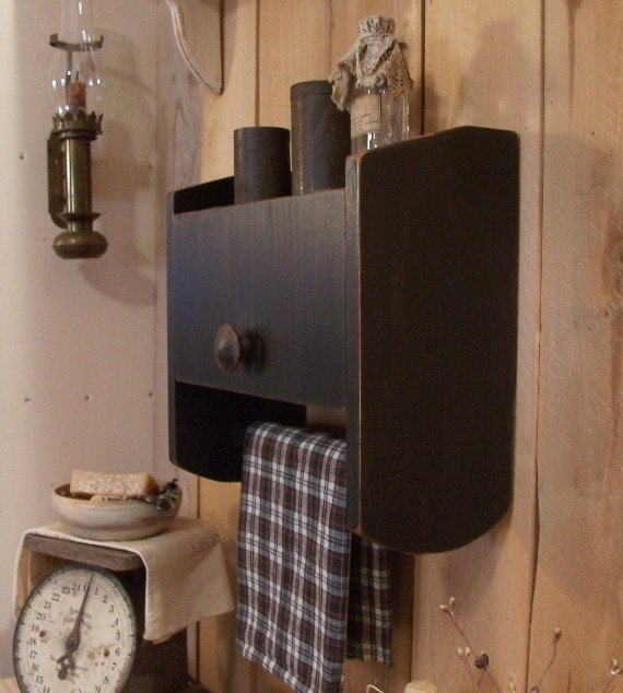Primitive Cabinet Towel Rack Spice Cabinet for Kitchen Toilet