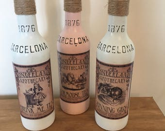 Alice in Wonderland Decorative Bottles