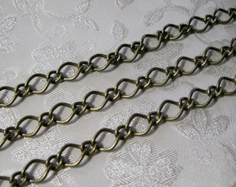 Antique Bronze Figaro Mother and Son 7 x 10mm and 4 x 6mm Chain 383