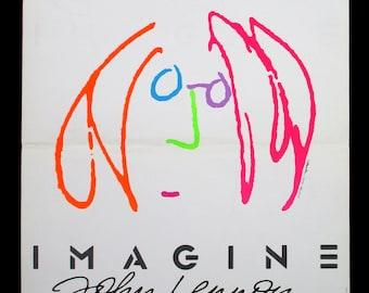 IMAGINE JOHN LENNON original 1988 movie poster self portrait