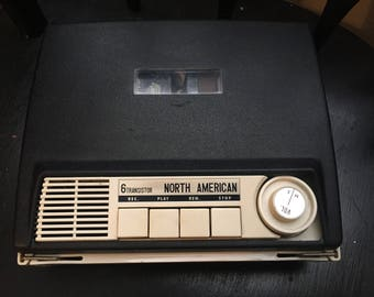 Vintage North American 6 Transistor Tape Recorder Solid State