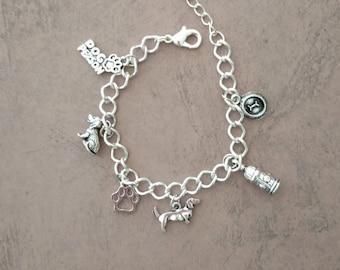 Dachshund Charm Bracelet