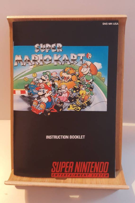 snes super mario kart replacement manual rh etsy com Mario Kart 64 Super Punch Out SNES
