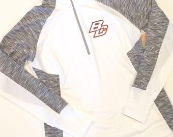 WOMENS white 1/4 zip BC fleece *NEW