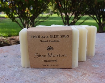 Shea Moisture, Unscented, Natural Handmade Soap, Moisturizing, Gentle, Baby Shampoo