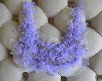 Lavender Applique Trim, Ruffles, Bridal