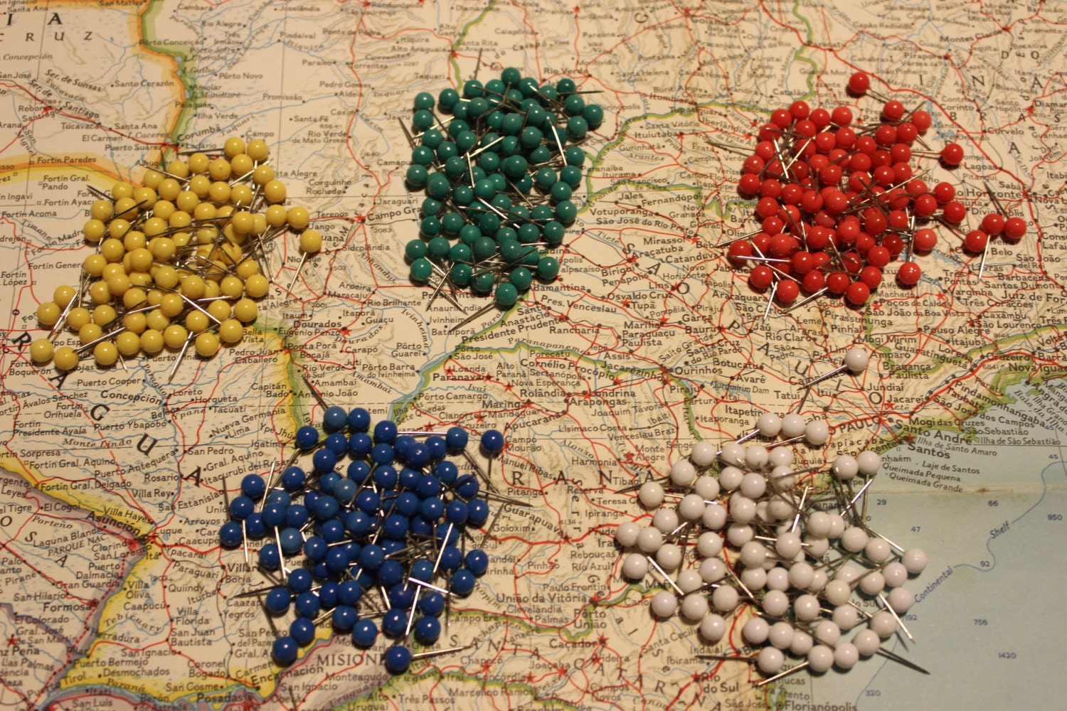 Set of push pins for travel map world map usa map zoom gumiabroncs Choice Image