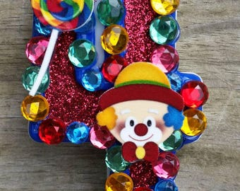 Carnival birthday candle, circus birthday candle