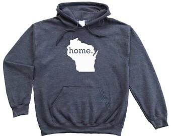 Homeland Tees Wisconsin Home Pullover Hoodie Sweatshirt