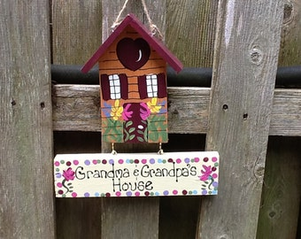 Grandparent personalized house sign