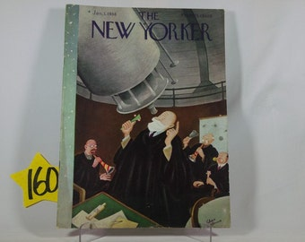 1938 January New Yorker magazine w/Chas Addams cover art