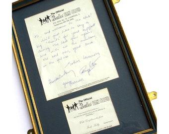 Beatles - 1967 Fan Club Welcome Letter & Membership