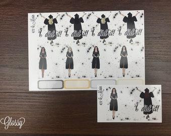 Grad FASHION GIRL Kit Add On Planner Stickers