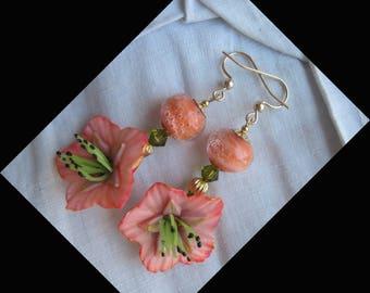 "GOLD FILLED 14KT ""The flowers"" earrings"