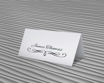 Place Card Template - Editable Name Cards - Editable Place Card - Wedding Place Cards - Wedding Stationery - Table Place Cards