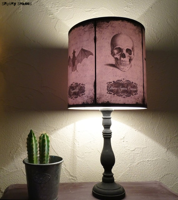 Gothic home decor lamp shade lampshade halloween curiosities aloadofball Images
