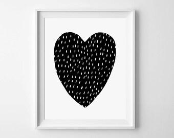 Digital Print, kids room decor, printable art, heart print, instant download, nursery wall prints, digital art, kids wall art, nursery decor