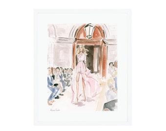 Carolina Herrera Runway Giclee Print
