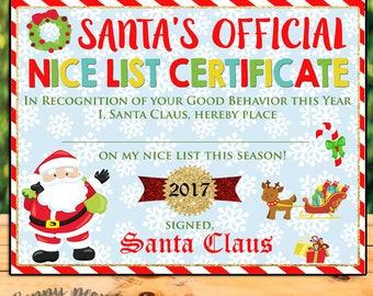 Childrens letter to santa santa letter naughty or nice santa nice list printable nice list certificate christmas printables letter to santa yadclub Choice Image