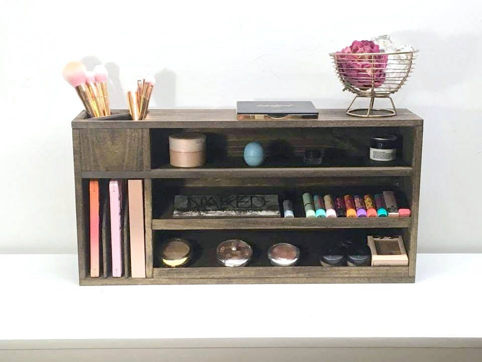 Makeup Organizer Wall Mounted Makeup Shelf Makeup Storage