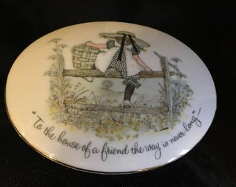 Holly Hobbie Porcelain Wall Plaque