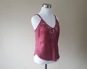 "34 / Maidenform / Camisole / Cami / ""Chantilly"" / Cranberry Red /  Small"