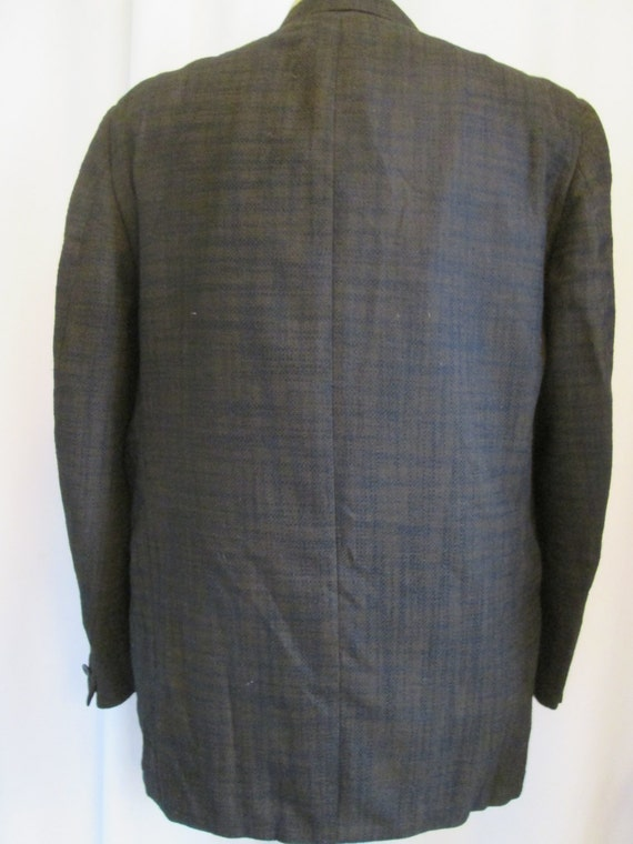 ventless fit skinny mens vintage button black Sportcoat' rockabilly 'Mr 44R Stanley on 60s horizontal deep stripe Blacker brown broken 2 wOwq6TUr