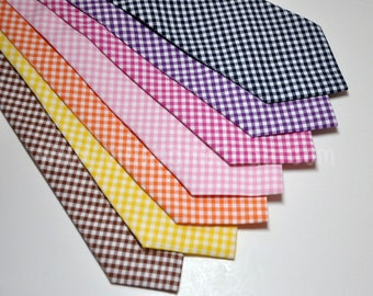 Gingham Neckties - Boys Neckties - Available in Lots of Colors