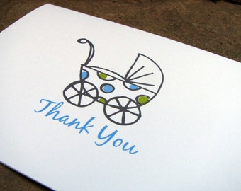 Baby Thank You Note Cards - Baby Thank You Notes - Baby Boy Thank You Notes - Baby Boy Thank You Notes - Baby Shower Thank You Notes