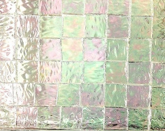 """BORDERS - IRIDIZED """"ICE"""" Textured Granite Stained Glass i-1"""