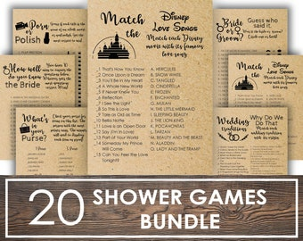 Bridal Shower Games Bundle Rustic shower wedding shower game editable printable game Bridal Games rustic bridal shower bridal shower decor