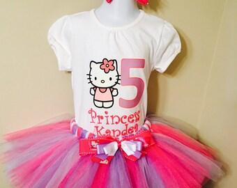Hello Kitty Tutu Set, Hello Kitty Birthday Shirt, Hello Kitty