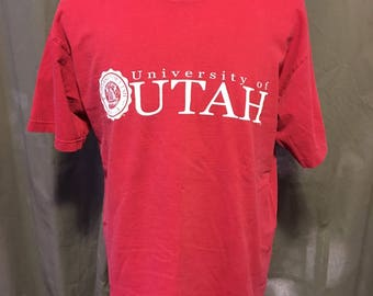 Vintage University of Utah T-Shirt Large