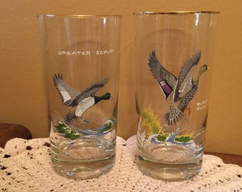 Duck Drinking Glasses Artist Ned Smith (Set of 2)