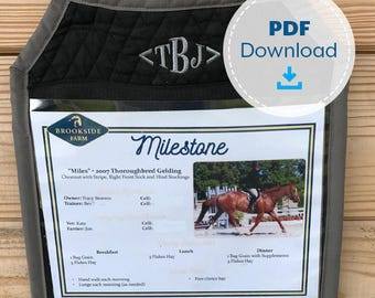 Horse Stall Card Holder Pattern, Instant Download, Sewing Pattern