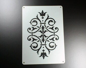Stencil Ornament Victorian Vine damast Damask-BE24