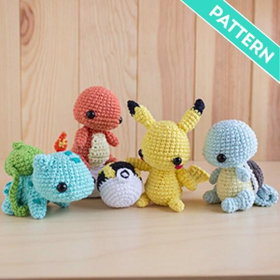 Patrones Amigurumi Pack Starters Pokémon Pikachu Gratis