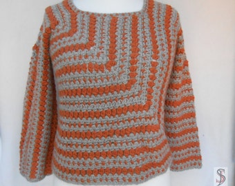 Crochet alpaca pullover